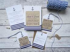 faire part de mariage theme mer nautical wedding invitation tag seaside wedding rustic