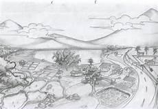 Contoh Lukisan Mudah Ditiru Sketsa Pemandangan