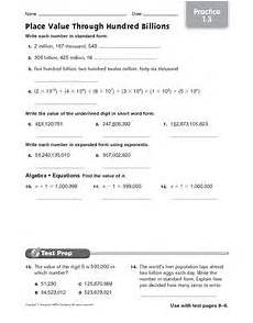 place value and exponents worksheets 5597 place value through hundred billions practice 1 3 5th 7th grade worksheet lesson planet