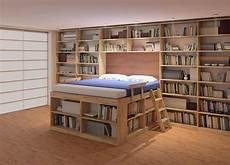 libreria in da letto il letto con soppalco soluzione salvaspazio unadonna