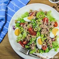 essen ohne kochen rezepte salat mit thunfisch und ei rezept salat mit thunfisch