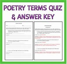 poetry analysis worksheet with answers 25533 poetry terms quiz student and quizes
