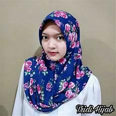 Jilbab Segi Empat Hitam Motif Voal Motif