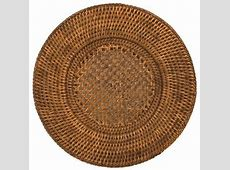 Round Placemats Charger Plates Woven Rattan Set of 4