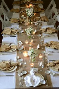 Decorations For The Table by Country Themed Bridal Luncheon Burlap And Lace Wedding