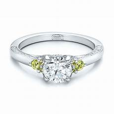 custom peridot and diamond engagement ring 100887 seattle bellevue joseph jewelry