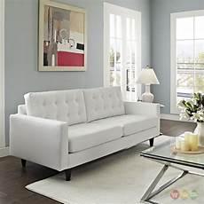 Mid Century Modern Leather Sofa Set