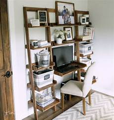 Pinnwand Selber Bauen - white leaning ladder wall bookshelf diy projects