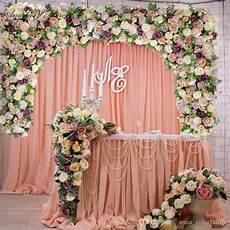 2019 customize diy wedding backdrop decor artificial