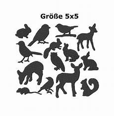 Kostenlose Malvorlagen Tiere Silhouette Stickmuster Stickset Quot Silhouette Tiere Quot 5x5