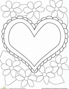 color the flowers coloring page education