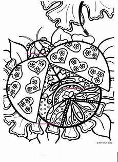 coloring page ladybug drawn image digital