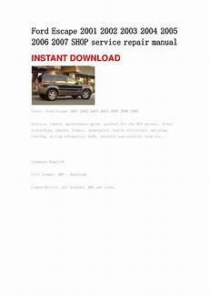 service manuals schematics 2007 ford escape free book repair manuals encontr 225 manual 2004 ford escape owners manual free download
