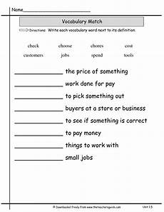 14 best images of matching definitions to words worksheets