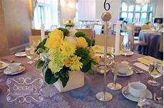 a modern yellow and silver wedding decoration toronto