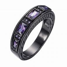 size 5 12 vintage purple amethyst wedding ring men womens 10kt black gold filled ebay