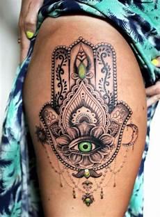 tatouage de cuisse 48 tatouages de caract 232 re hamsa
