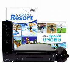 wii console sports refurbished nintendo wii console black with wii sports and