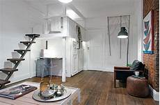 Chic Scandinavian Studio With Lofted the delightful design of the studio flat scandinavian style