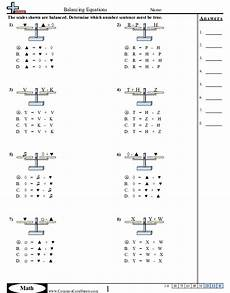 solving pan balance problems algebra worksheets 2019 01 22