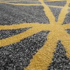 teppich gelb grau kurzflor teppich linien gelb grau teppich de