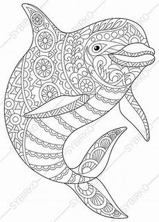2 coloring pages of dolphin from coloringpageexpress shop