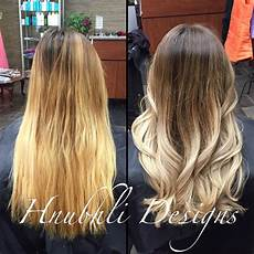 blonde hair color ash light brown over orange brown to ash blonde ombr 201 i did an ombre on steph s hair a few months ago the toner has faded