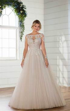 modern wedding gowns modern sleeved ballgown wedding dress essense of