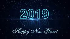 happy new year 2019 with glowing particles the dark background stock video footage