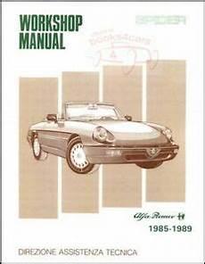 alfa romeo spider shop manual service repair workshop book 1989 1985 ebay