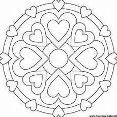 Ausmalbilder Sterne Und Herzen Mandala Malvorlageben Mit Symbolen F 252 R Kinder Und Erwachsene