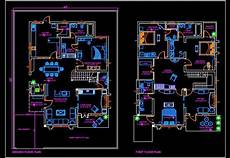 house plan dwg duplex house 45 x60 autocad house plan drawing free