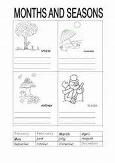 seasons worksheets printable 14749 months and seasons esl worksheet by carotte