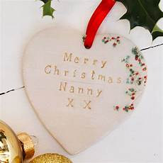 merry christmas nanny ceramic heart by juliet reeves designs notonthehighstreet com