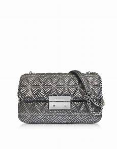 lyst michael kors silver quilted leather sloan large