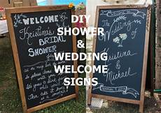 diy chalk wedding welcome sign creating a simpler life