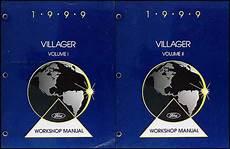 car repair manuals online pdf 1998 mercury villager engine control 1999 mercury villager repair shop manual original 2 volume set