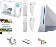 wii console sports white nintendo wii console boxed inc 2 remotes 2