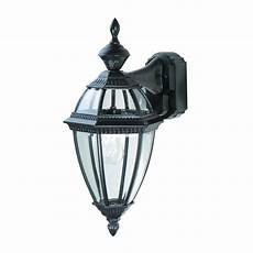 heath zenith 1 light black motion activated outdoor wall lantern hz 4291 bk the home depot