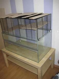 hamsterkäfig aus glas hamsterk 228 fig aus glas mit passendem tisch in abtsteinach
