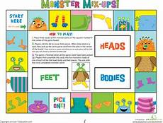 the mix up monsters worksheet education com