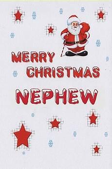 relation christmas cards merry christmas nephew