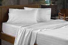 sheet bedsheet 100 cotton 60s 300tc white 1 cm satin stripes mercerized comfort home