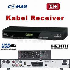 Hd Digital Receiver Kabel - hd digital kabel receiver comag dkr 900 hd ci hdmi kabel