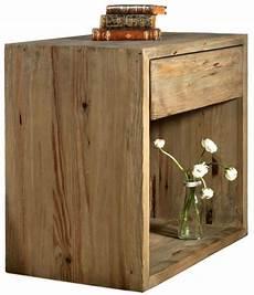 comodino legno comodino salvia in legno di pino vecchio con cassetto