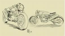 Cafe Racer Bike Sketch cafe racer 2 live design bike sketching speed paint
