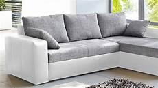 Sofa Grau Weiß - ecksofa viper sofa in wei 223 und grau mit bettfunktion