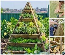 diy vertical pyramid tower raised garden beds