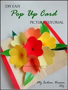 My Indian Version Diy Easy Pop Up Card Photo Tutorial
