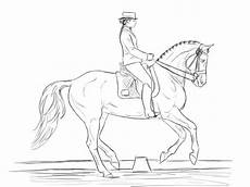 dressage coloring pages sketch template